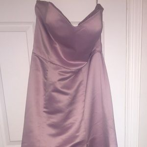 Dessy group satin formal gown